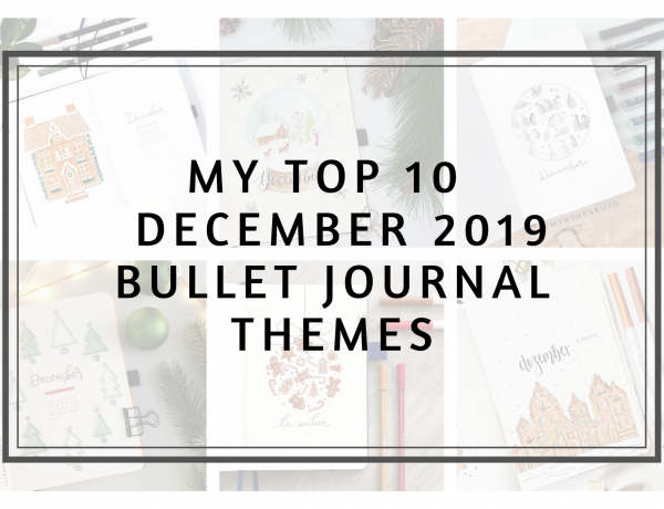 Cover 2019 top 10 bullet journal themes