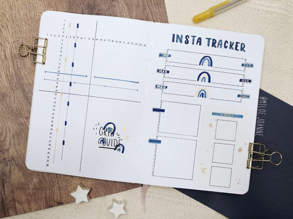 yearly 2021 - grid spacing and instagram tracker