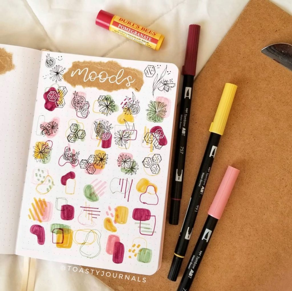 The Best Bullet Journal Themes Of 2020 - @toastyjournals