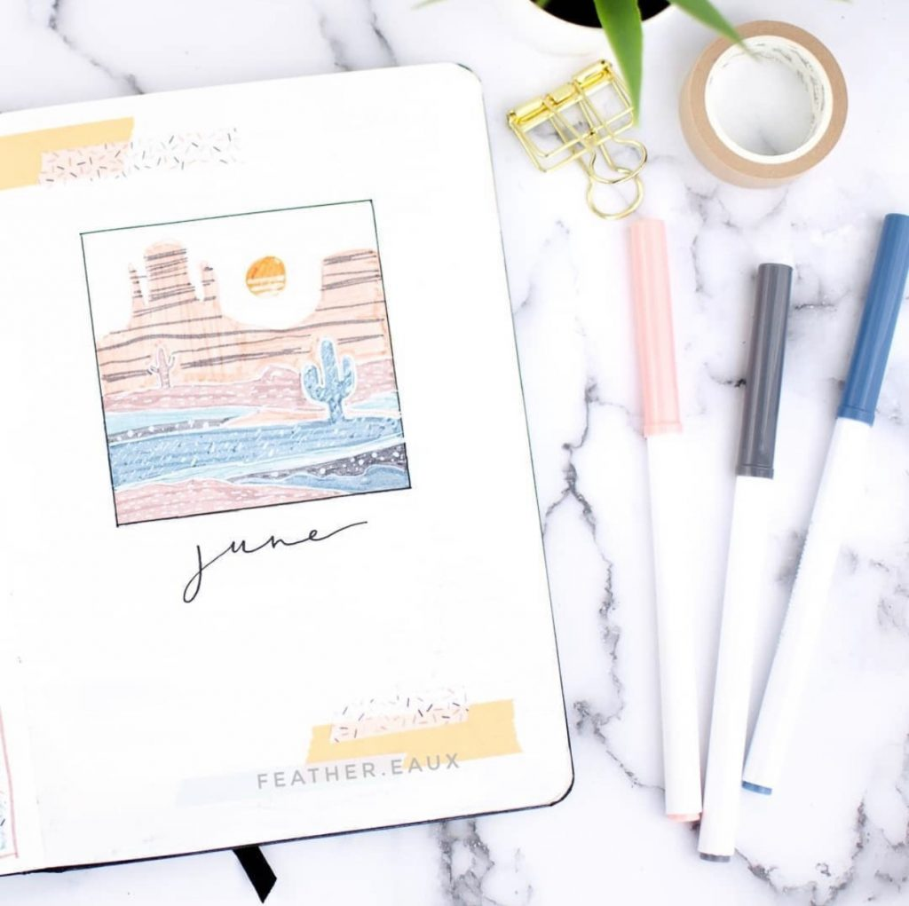 The Best Bullet Journal Themes Of 2020 - @feather.eaux