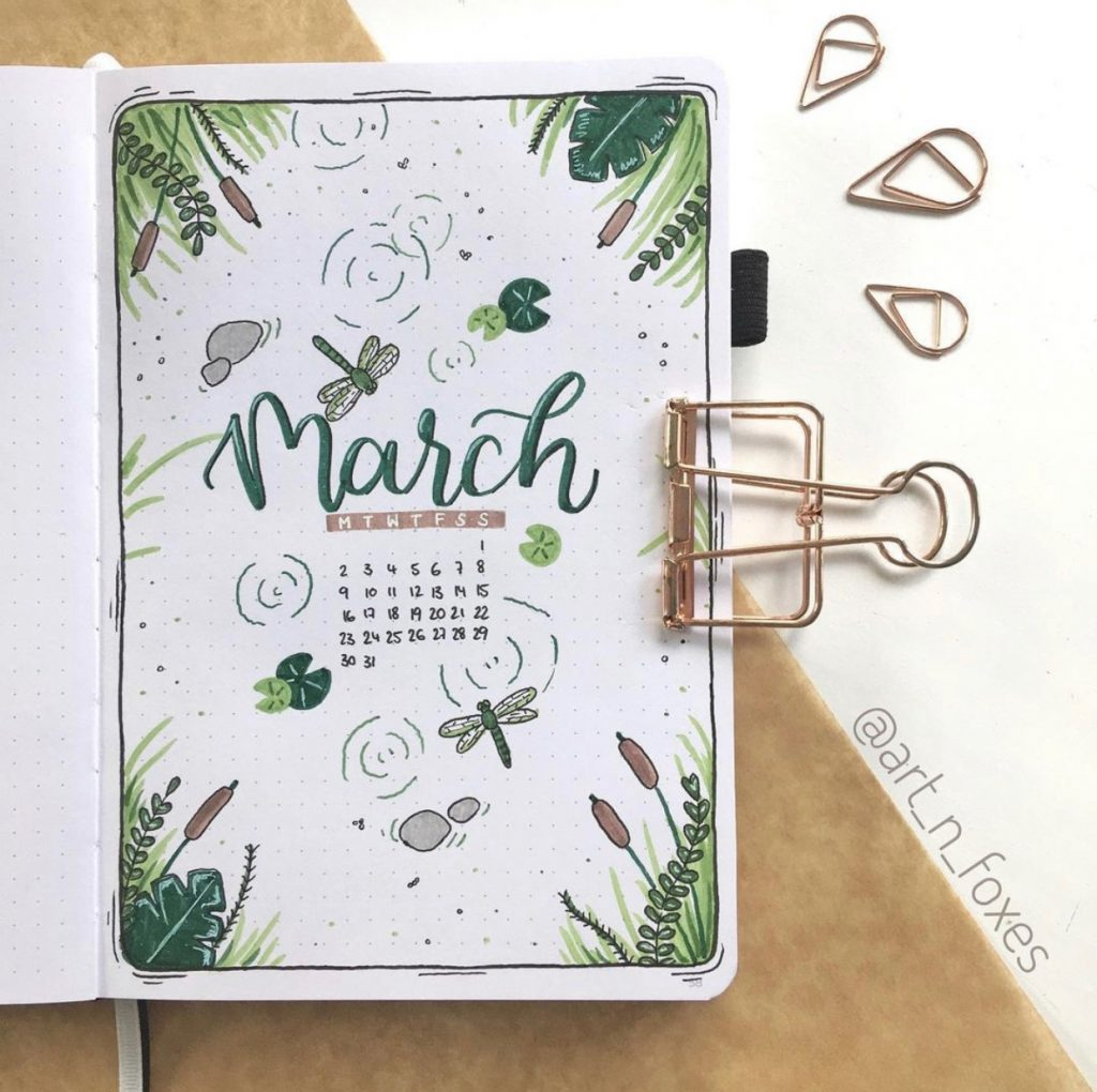 The Best Bullet Journal Themes Of 2020 - @art_n_foxes