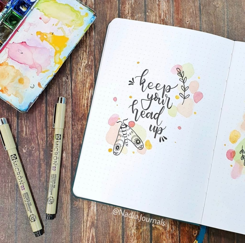 The Best Bullet Journal Themes Of 2020 - @nadia.journals