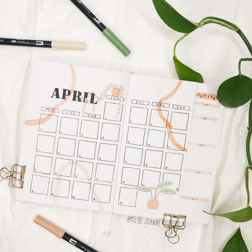 April pots and plants monthly
