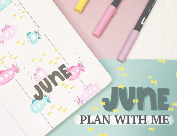 June plan with me: submarines bullet journal theme