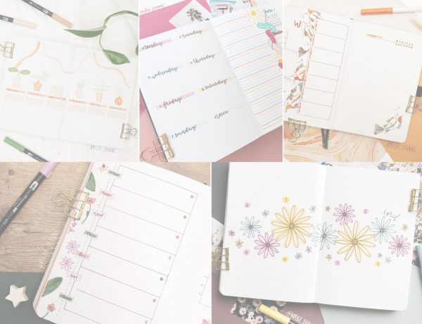 Favourite bullet journal weekly spreads